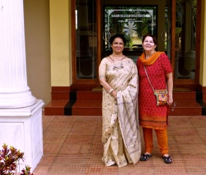 Dr. Mary Venus Joseph (left), Dean and Administrator of the School of Social Work at Rajagiri College